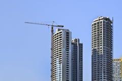 Arranha-céus sob a construção no centro da cidade do Pequim, China Fotografia de Stock Royalty Free