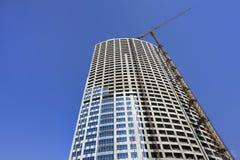 Arranha-céus sob a construção no centro da cidade do Pequim, China Imagem de Stock Royalty Free