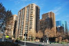 Arranha-céus surpreendentes no Santiago, o Chile Fotografia de Stock