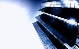 Arranha-céus ultra moderno fotos de stock