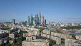 Arranha-c?us da cidade de Moscou, vista a?rea Centro de neg?cios do escrit?rio da cidade de Moscou Torres da cidade de Moscou vídeos de arquivo