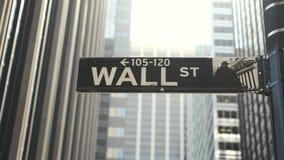Arranha-c?us de New York Sinal de Wall Street vídeos de arquivo