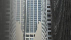 Arranha-c?us de New York Wall Street vídeos de arquivo