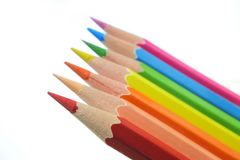 Arranje do lápis da cor no fundo branco foto de stock royalty free