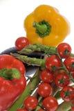 Arranjo com legumes frescos Imagem de Stock