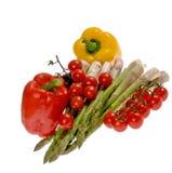 Arranjo com legumes frescos Fotos de Stock