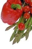 Arranjo com legumes frescos Imagens de Stock
