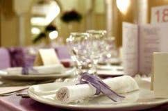Arranjo da tabela do casamento Foto de Stock Royalty Free
