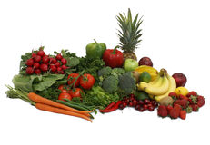 Arranjo das frutas e verdura Imagem de Stock