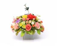Arranjo de flor artificial imagens de stock royalty free