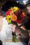 Arranjo de flor do ramalhete do casamento Imagem de Stock Royalty Free