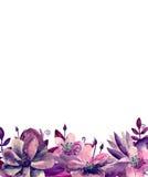 Arranjo de flores do Watercolour Foto de Stock