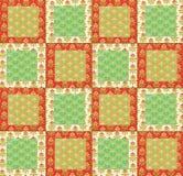 Arranjo de quadrados do algodão para um projeto estofando Foto de Stock Royalty Free