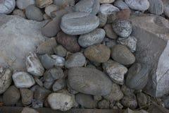 Arranjo de vário - cascalho e pedras calcárias lavados feitos sob medida Imagem de Stock Royalty Free