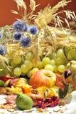 Arranjo do outono com frutas e verdura Foto de Stock