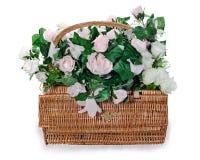Arranjo do ramalhete das rosas brancas e cor-de-rosa Imagens de Stock
