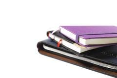 Arranjo dos cadernos Fotos de Stock Royalty Free