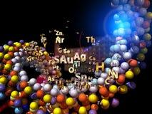 Arranjo dos elementos químicos Foto de Stock
