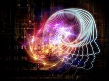 Emergência da inteligência artificial ilustração stock