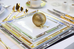 Arranjo festivo da tabela Imagem de Stock Royalty Free