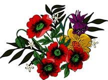Arranjo floral brilhante ilustração stock