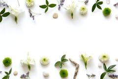 Arranjo floral no fundo branco Imagens de Stock