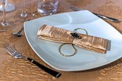 Arranjo para jantares festivos Fotografia de Stock