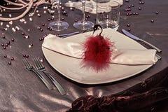 Arranjo para os jantares festivos - 5 Imagens de Stock