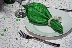 Arranjo para os jantares festivos - 4 Fotos de Stock Royalty Free