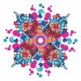 Arranjo simétrico incomun com os palhaços ilustração royalty free