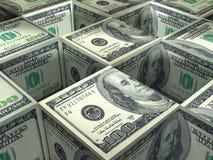Arranjos do cubo do dólar Imagens de Stock Royalty Free