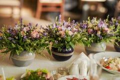 Arranjos florais da alfazema e das ervas Foto de Stock