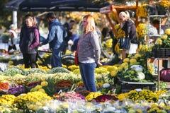 Arranjos florais em todo o dia de Saint Fotografia de Stock