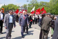 Arranque de cinta comunista Vladimir Voronin Fotos de archivo