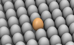 Arranque de cinta de huevos Fotografía de archivo libre de regalías