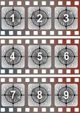 Arranque de cinta de la película de película Fotografía de archivo libre de regalías