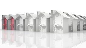 Arranque de cinta de las propiedades inmobiliarias ilustración del vector