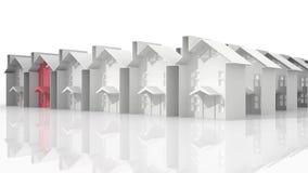 Arranque de cinta de las propiedades inmobiliarias stock de ilustración