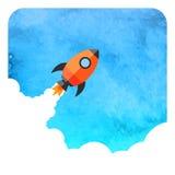 Arranque de negocio Rocket Foto de archivo libre de regalías