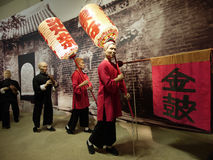 Arranques de cinta de personas chinos de la silla de silla de manos Imagen de archivo