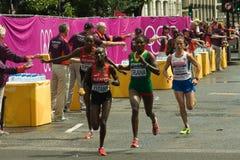 Arranques de cinta del maratón de las mujeres olímpicas Foto de archivo libre de regalías