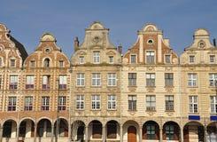 Arras, Γαλλία Φλαμανδικές προσόψεις θέσεων Grande Στοκ Φωτογραφία