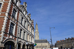 Arras, Γαλλία Place des Heroes Flemish προσόψεις Στοκ εικόνα με δικαίωμα ελεύθερης χρήσης