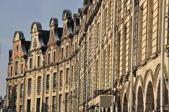 Arras, France. Grande Place Flemish facades Royalty Free Stock Photography