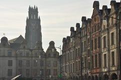 Arras, France. Place des Heros Flemish facades Royalty Free Stock Photo