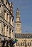 Arras, France. Place des Heros Flemish facades Royalty Free Stock Images