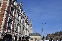 Arras, France. Place des Heros Flemish facades Royalty Free Stock Image