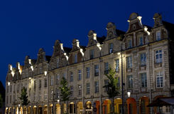 Arras Grand Place. At night royalty free stock photography