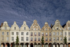 Arras Grand Place. Buildings in France stock images