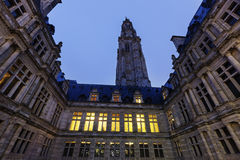 Arras Town Hall on Place des Heros Royalty Free Stock Images